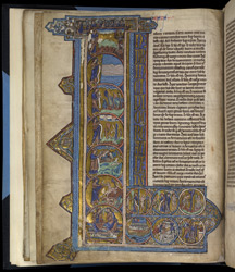 Historiated Initial With Scenes From Genesis, In 'The Bible Of Robert De Bello'